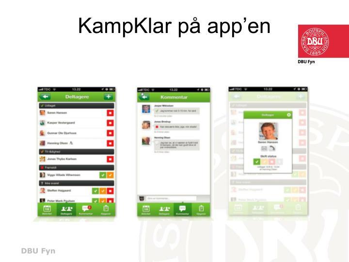 KampKlar på app'en