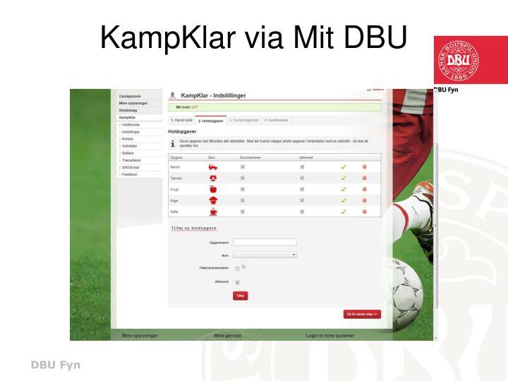 KampKlar via Mit DBU