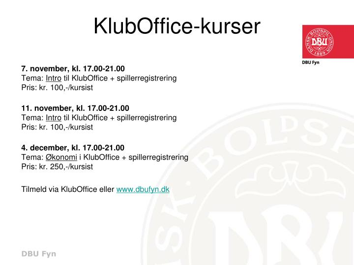 KlubOffice-kurser