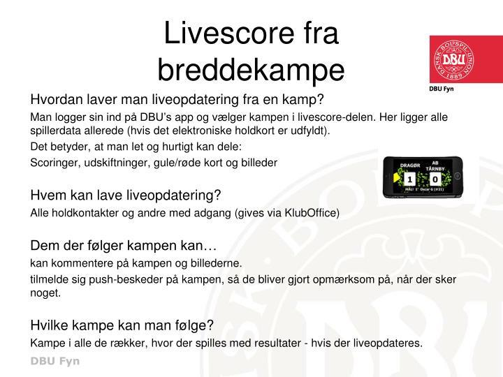 Livescore fra