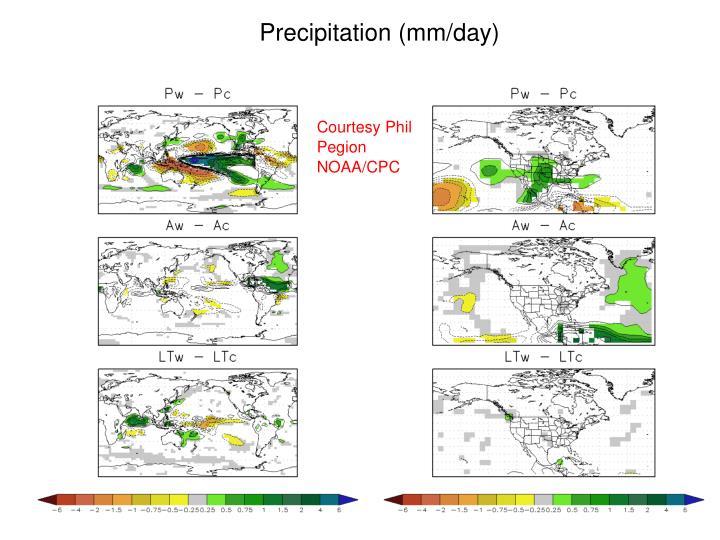 Precipitation (mm/day)