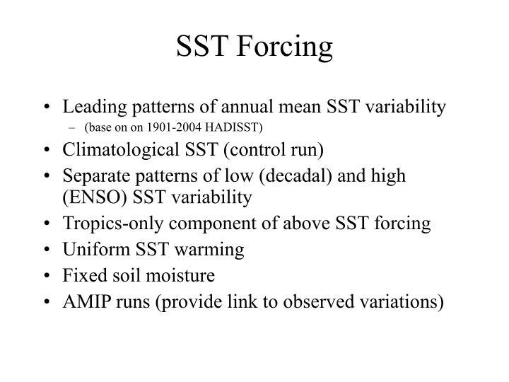 SST Forcing