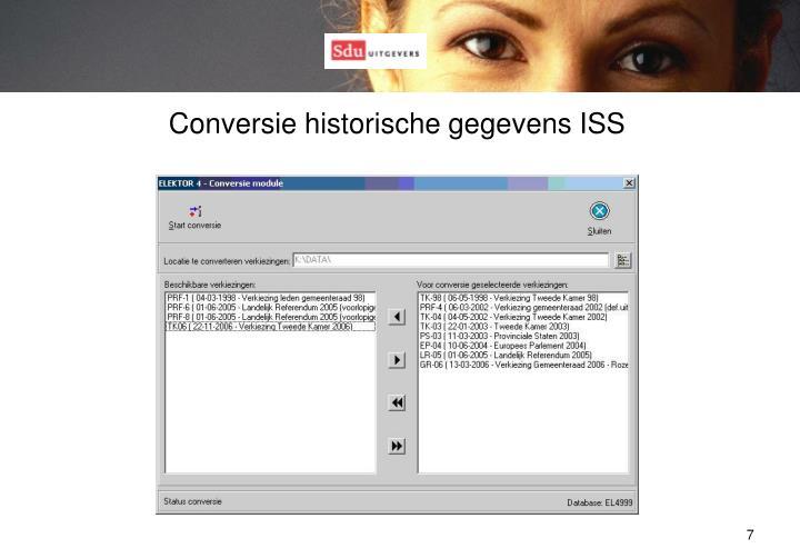 Conversie historische gegevens ISS