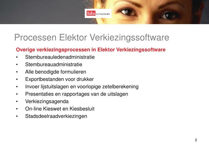 Processen Elektor Verkiezingssoftware