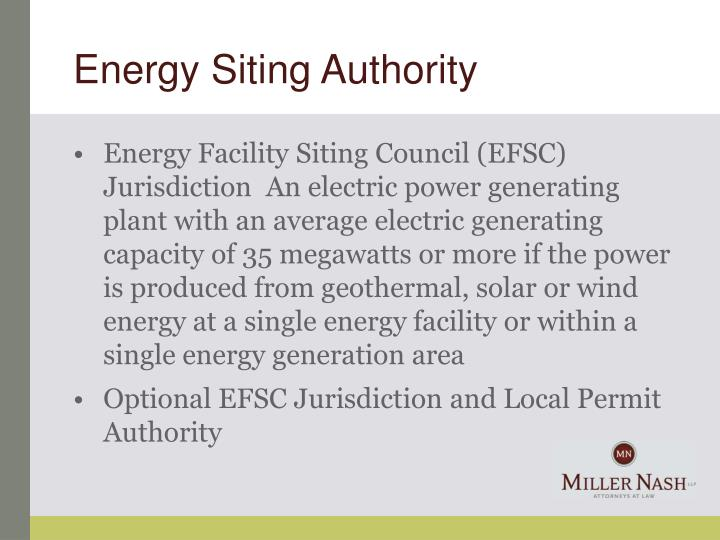 Energy Siting Authority