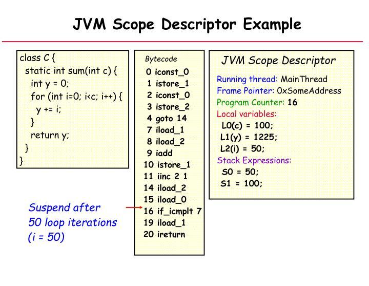 JVM Scope Descriptor Example