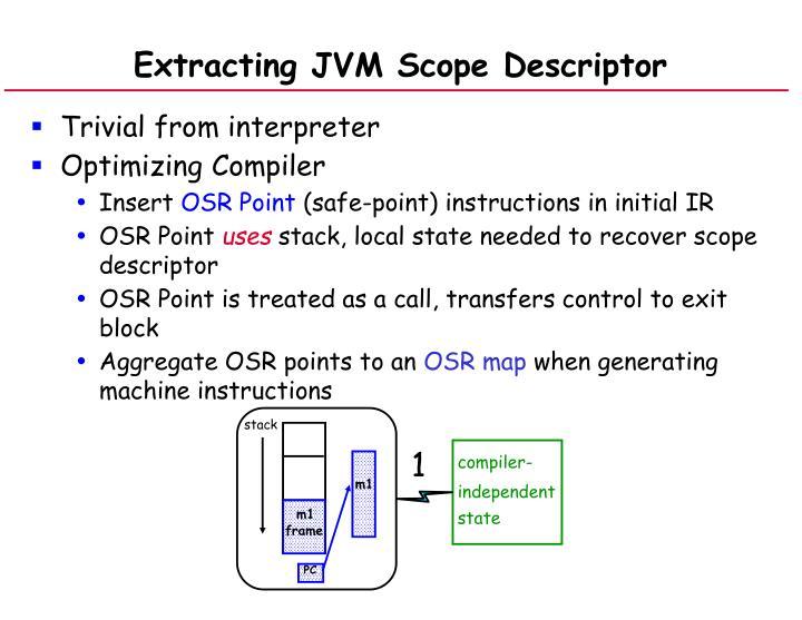 Extracting JVM Scope Descriptor