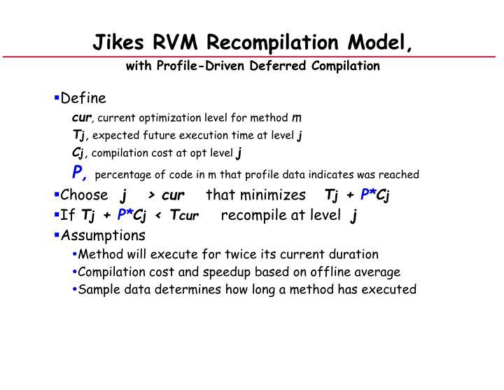 Jikes RVM Recompilation Model,