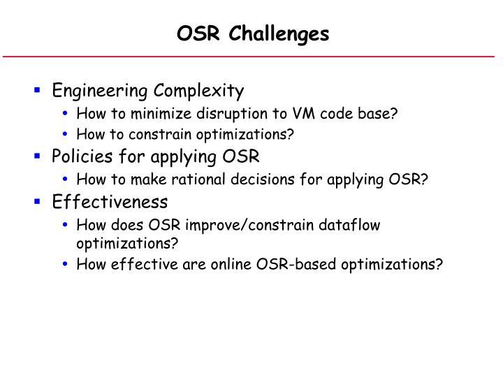 OSR Challenges