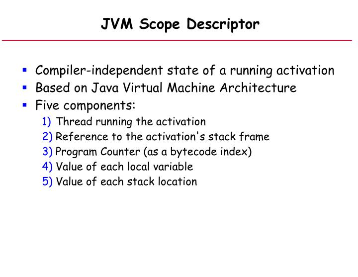 JVM Scope Descriptor