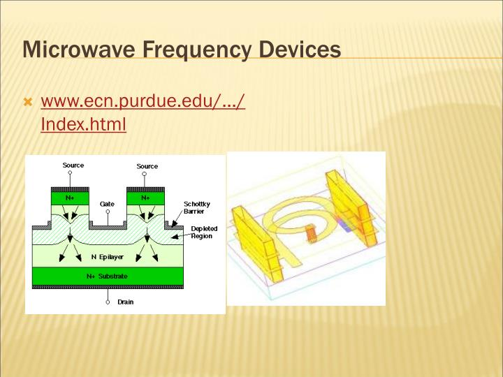 Microwave Frequency Devices
