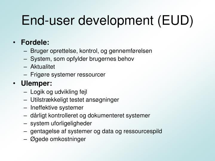 End-user development (EUD)