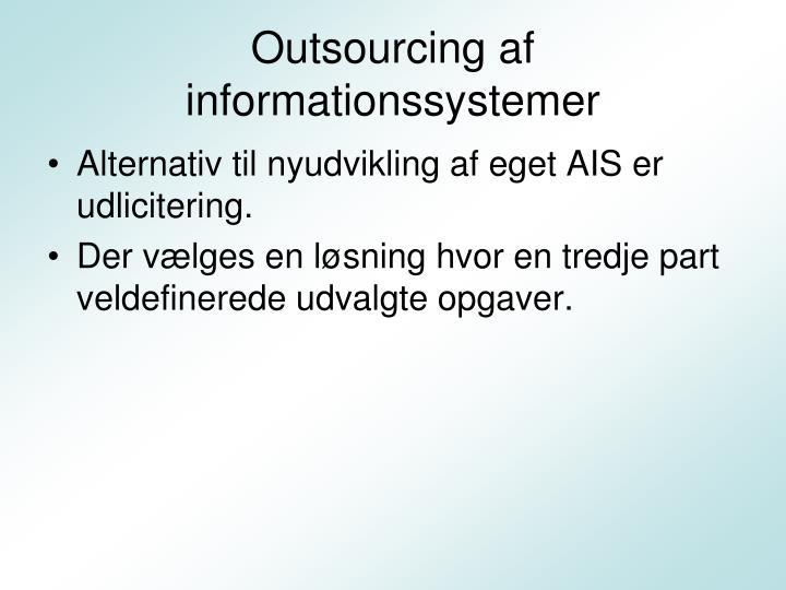 Outsourcing af informationssystemer