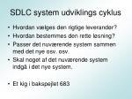 sdlc system udviklings cyklus