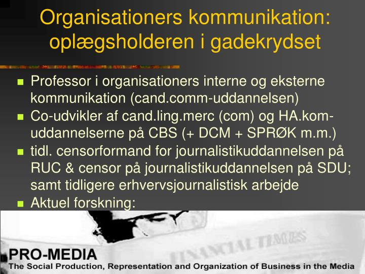 Organisationers kommunikation: