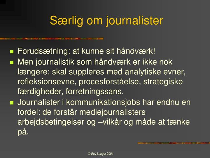 Særlig om journalister