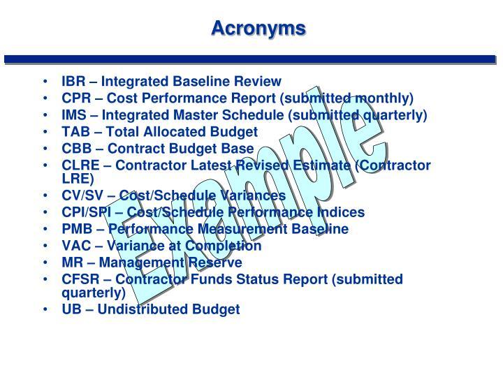 Acronyms