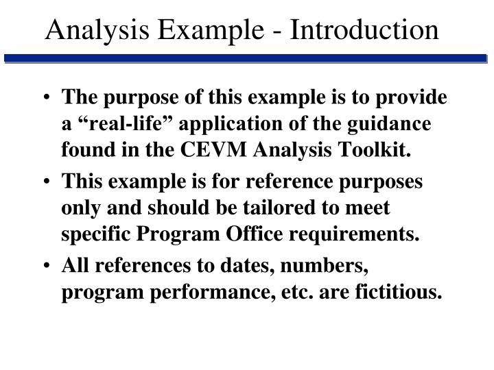 Analysis Example - Introduction