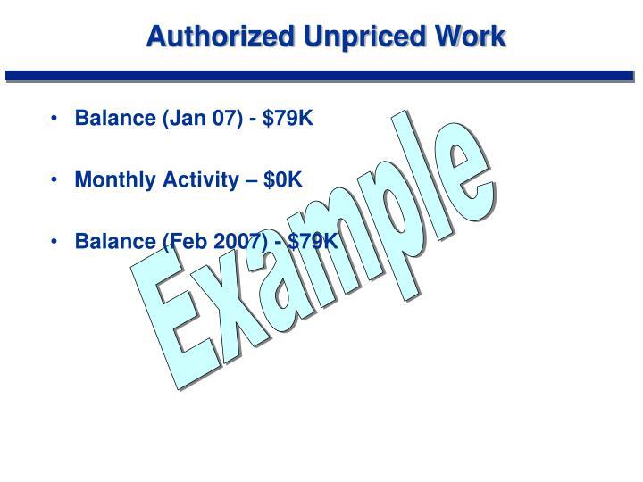 Authorized Unpriced Work