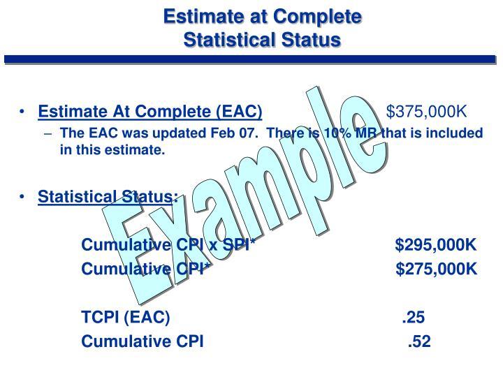 Estimate at Complete
