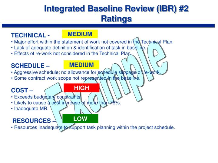 Integrated Baseline Review (IBR) #2
