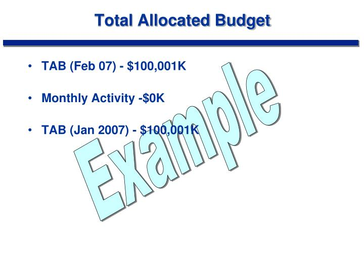 Total Allocated Budget