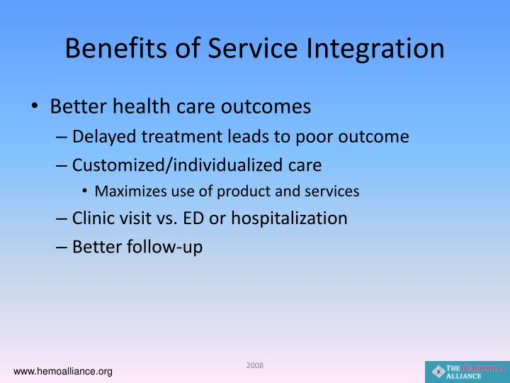 Benefits of Service Integration