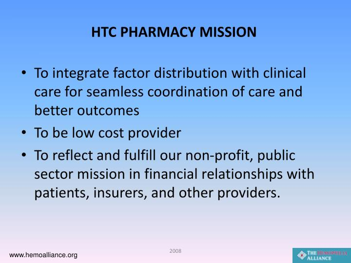 HTC PHARMACY MISSION