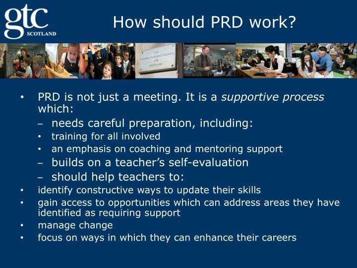 How should PRD work?