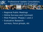 professional update consultation development and evaluation