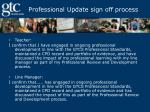 professional update sign off process