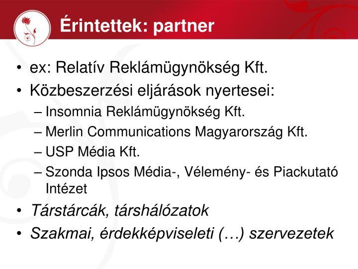 Érintettek: partner