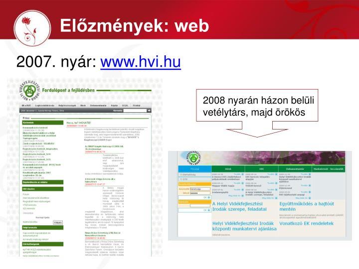 Előzmények: web