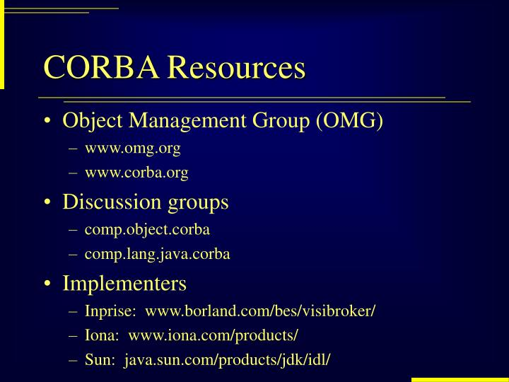 CORBA Resources