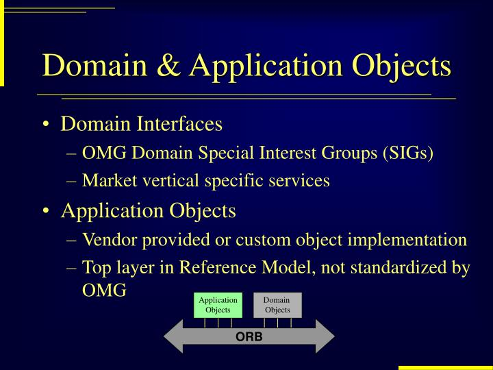 Domain & Application Objects