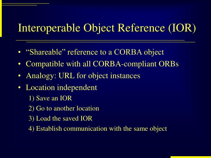 Interoperable Object Reference (IOR)