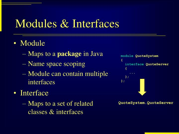 Modules & Interfaces