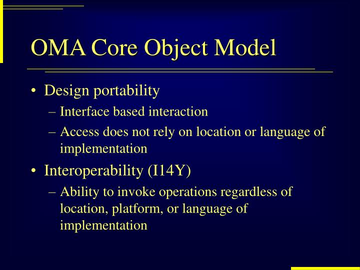 OMA Core Object Model
