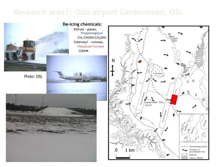 Research area1: Oslo airport Gardermoen, OSL