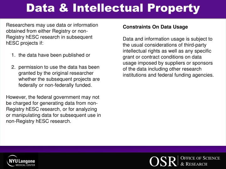 Data & Intellectual Property