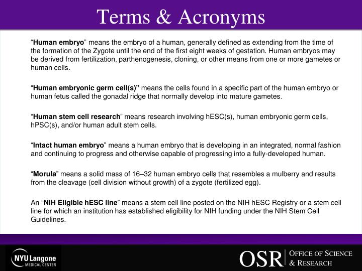 Terms & Acronyms