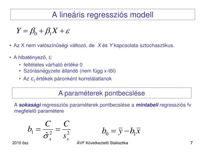 A lineáris regressziós modell