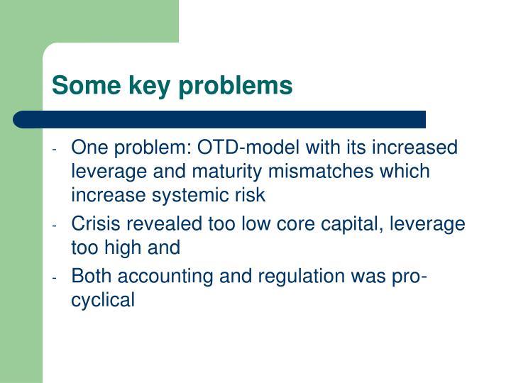 Some key problems