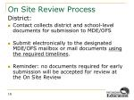 on site review process4