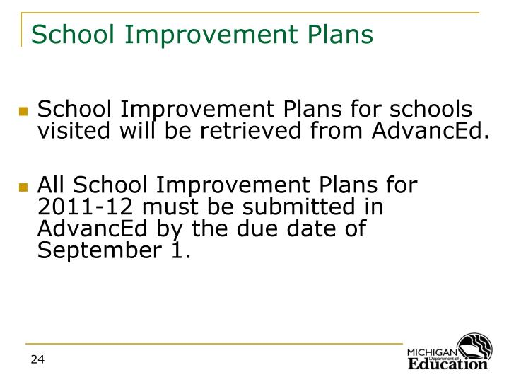 School Improvement Plans