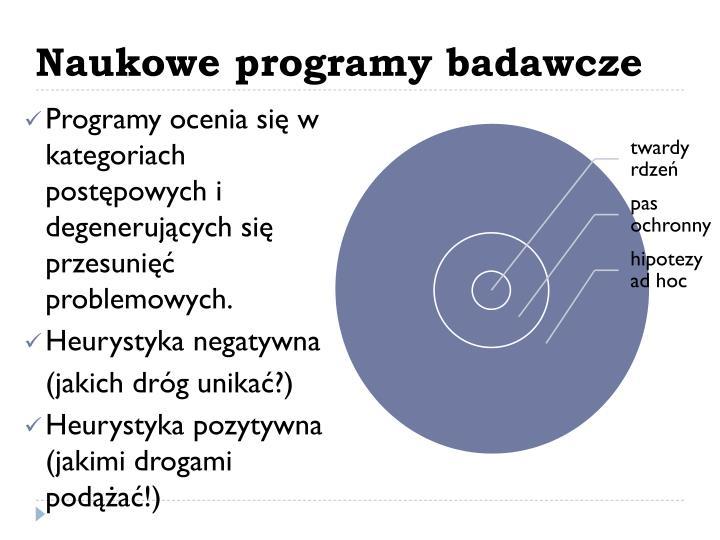 Naukowe programy badawcze