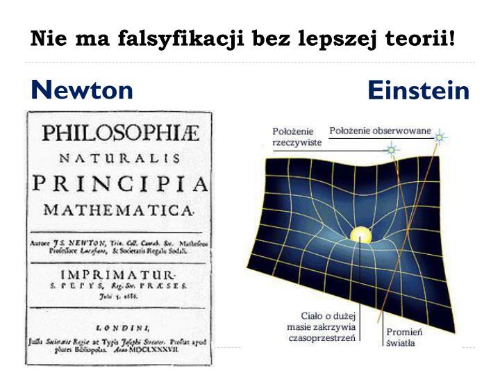 Nie ma falsyfikacji bez lepszej teorii!
