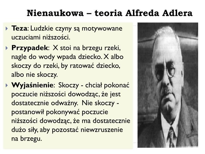 Nienaukowa – teoria Alfreda Adlera