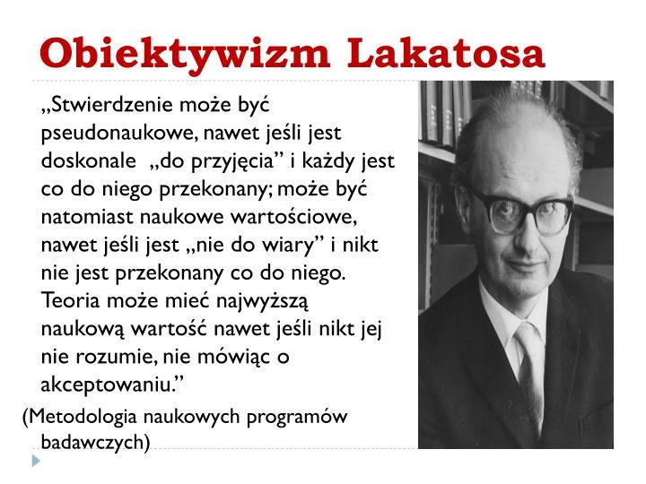 Obiektywizm Lakatosa