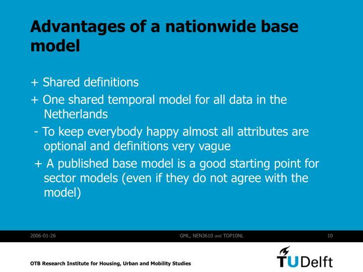 Advantages of a nationwide base model